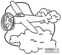 天空中飞行的航机