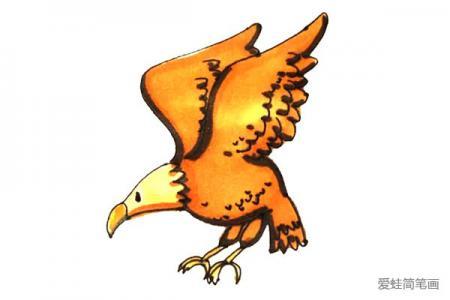儿童学画老鹰