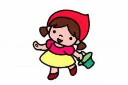 小红帽简笔画画法