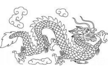 龙的简笔画 霸气中国龙简笔画