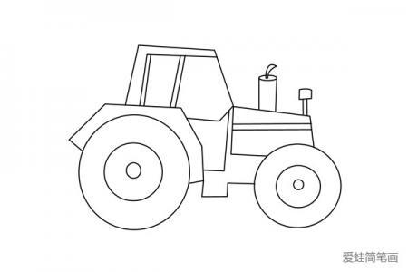 拖拉机的简单画法