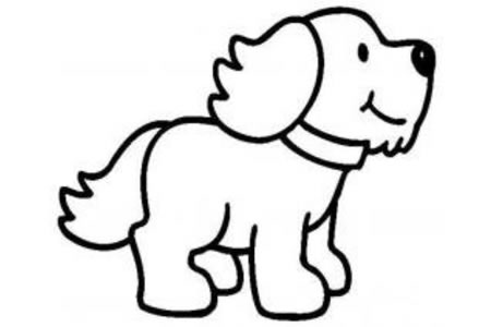 可爱的小狗简笔画图片