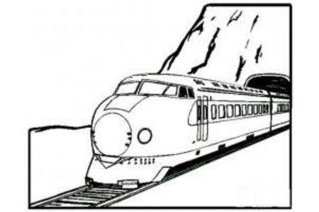 穿隧道的火车简笔画
