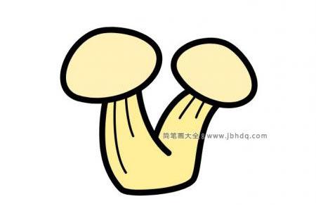 3张蘑菇的简笔画图片