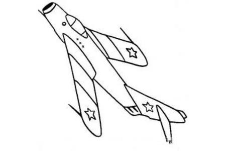 战斗机简笔画大全 米格15