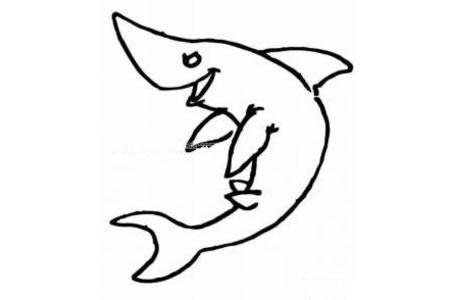 嬉戏的鲨鱼