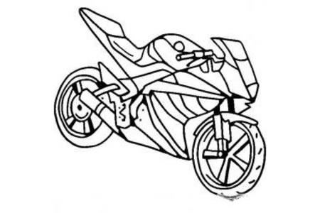 摩托车简笔画 雅马哈摩托车简笔画图片