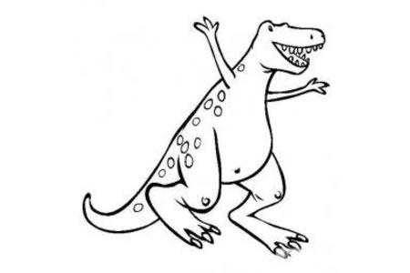 恐龙图片大全 暴龙简笔画图片