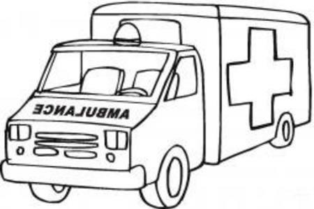 紧急救护车的画法