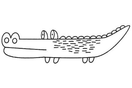 鳄鱼简笔画大全及画法步骤