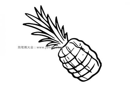 一张漂亮的菠萝简笔画图片