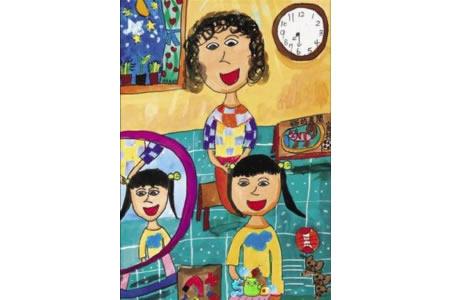 妈妈帮我梳头四年级母亲节画画图片欣赏