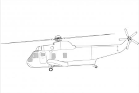 直升机的简单画法