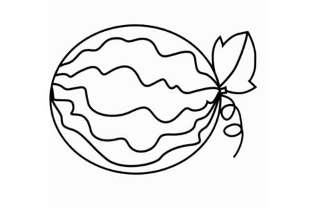美味的西瓜怎么画