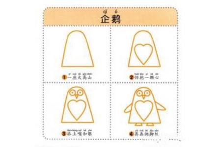 企鹅简笔画教程