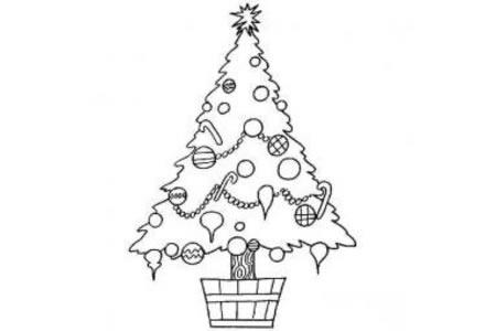 小学生DIY圣诞树简笔画方法