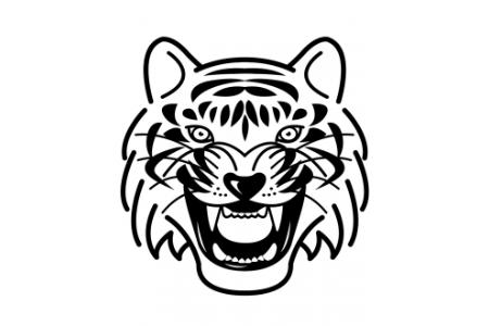 老虎头部画像