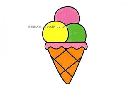 漂亮的甜筒冰激凌