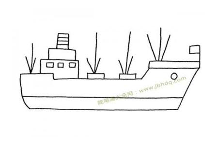 简单轮船简笔画