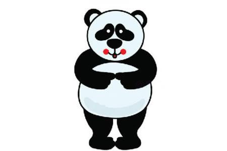 害羞的大熊猫简笔画教程
