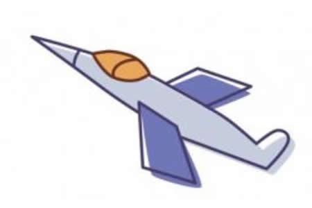 简笔画动画教程之战斗机