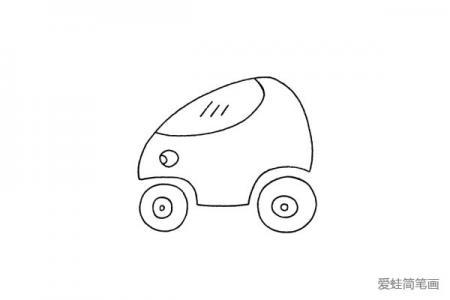 简单的摩托车简笔画