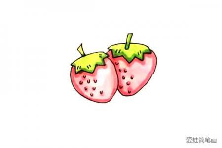 草莓怎么画