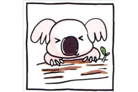 四步画出可爱简笔画 慢吞吞的考拉