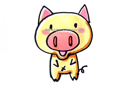 学画可爱的小猪
