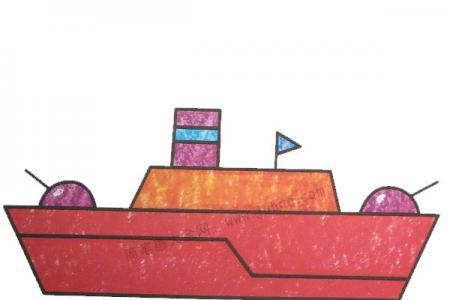 幼儿学画军舰