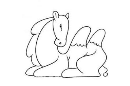 五张卡通骆驼简笔画