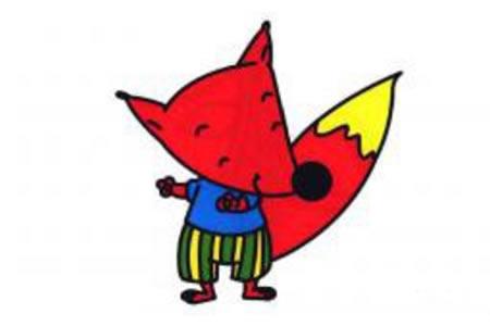 简笔画狐狸