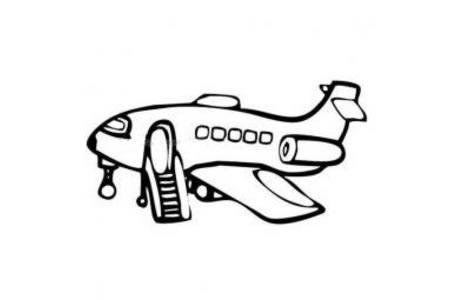 候客的飞机简笔画