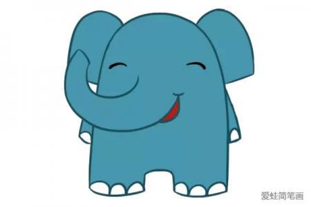 三张可爱的卡通大象简笔画图片