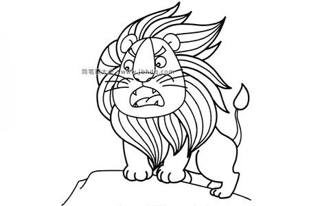 威武的狮子王简笔画图片