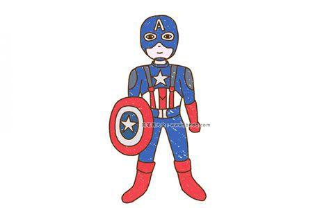 美国队长简笔画