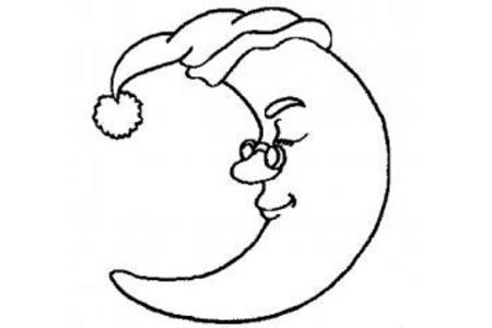 月亮卡通简笔画