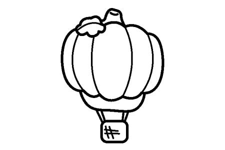 4张卡通热气球简笔画图片
