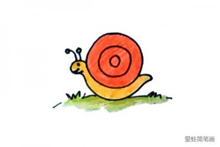 小蜗牛怎么画