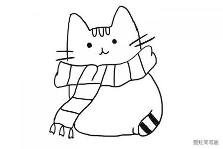 可爱小猫猫简笔画图片