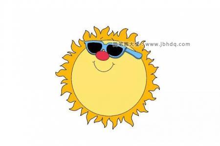 简笔画教程|画超酷的太阳