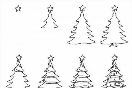 漂亮的圣诞树简笔画教程