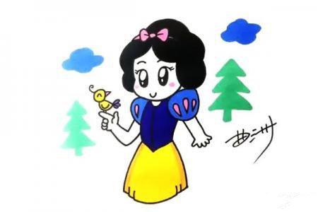 卡通画白雪公主