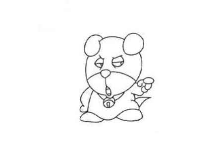 可爱的卡通小狗简笔画