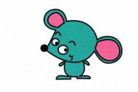 小老鼠简笔画画法