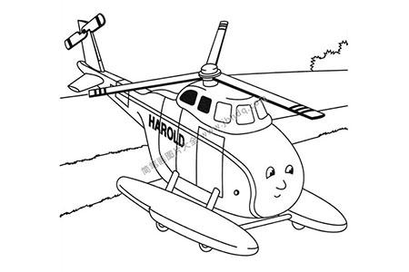 救援直升机简笔画图片