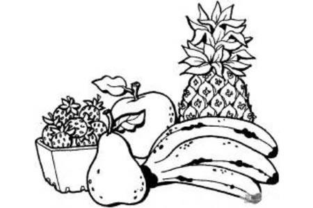 美味的水果简笔画图片