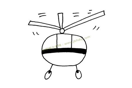飞行的直升机简笔画