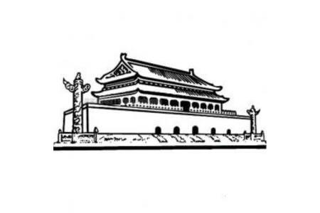天安门建筑简笔画