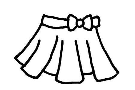 3款夏日短裙简笔画图片